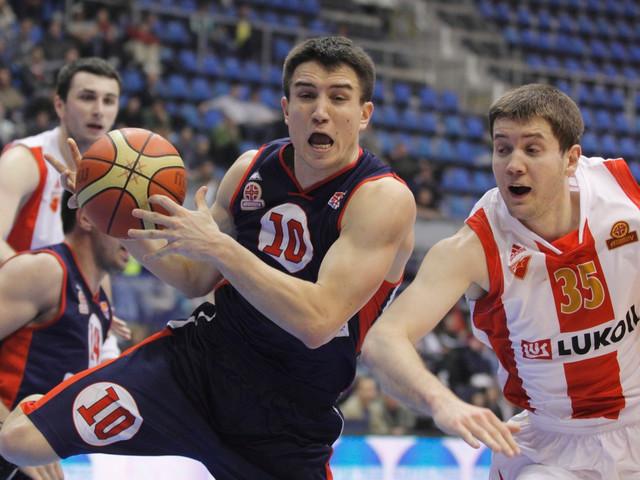 Stefan Stojačić tokom borbe na dva obruča