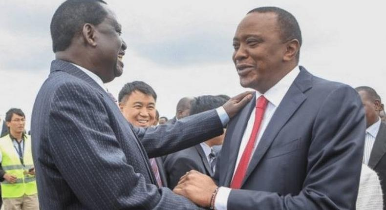 Nasa leader Raila Odinga and and President Uhuru Kenyatta.