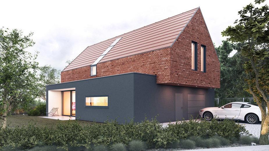 Mały dom z cegły