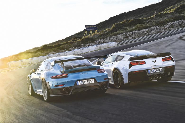 Porsche 911 GT2 RS kontra Chevrolet Corvette Z06