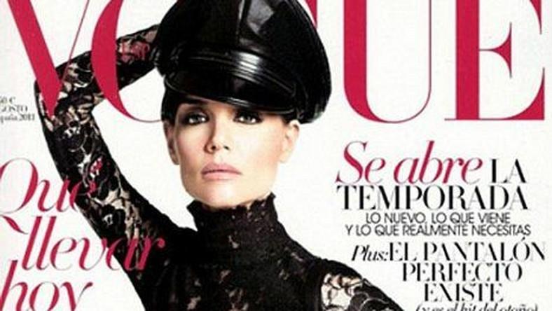 Katie Holmes na okładce Vogue