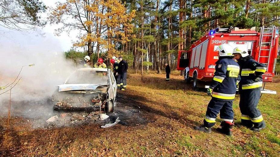 Pożar porzuconego forda