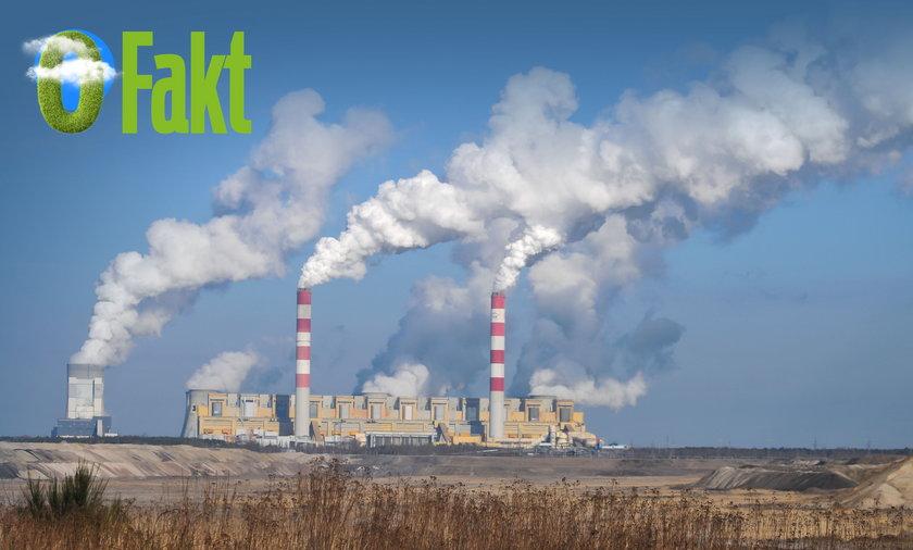 Na zdjęciu: największy emitent dwutlenku węgla do atmosfery w Unii Europejskiej - elektrownia w Bełchatowie.