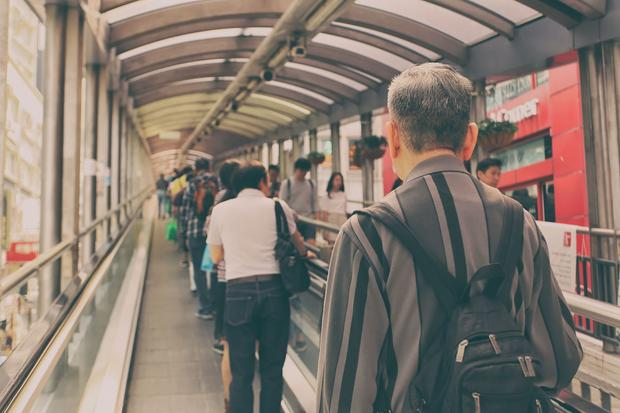 Hong Kong, system ruchomych schodów