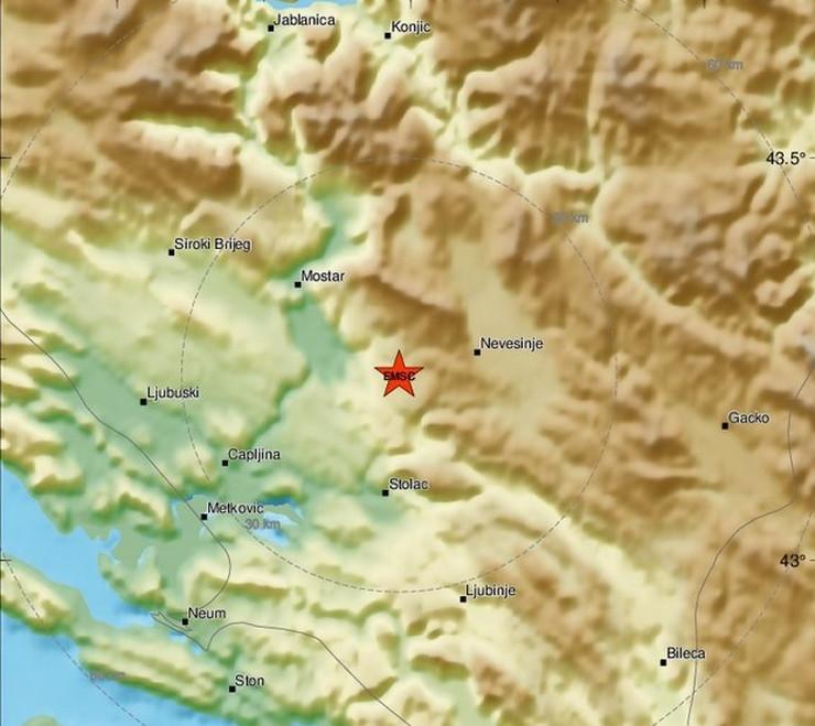 Zemljotres Nevesinje