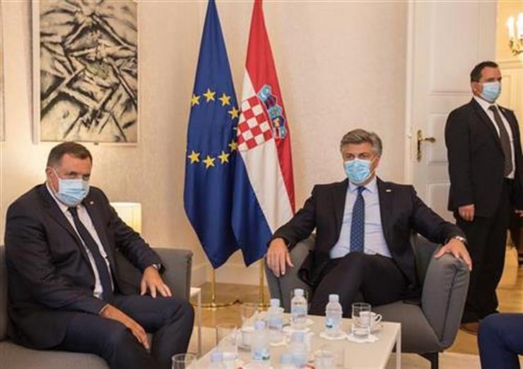 Milorad Dodik i Andrej Plenkovic