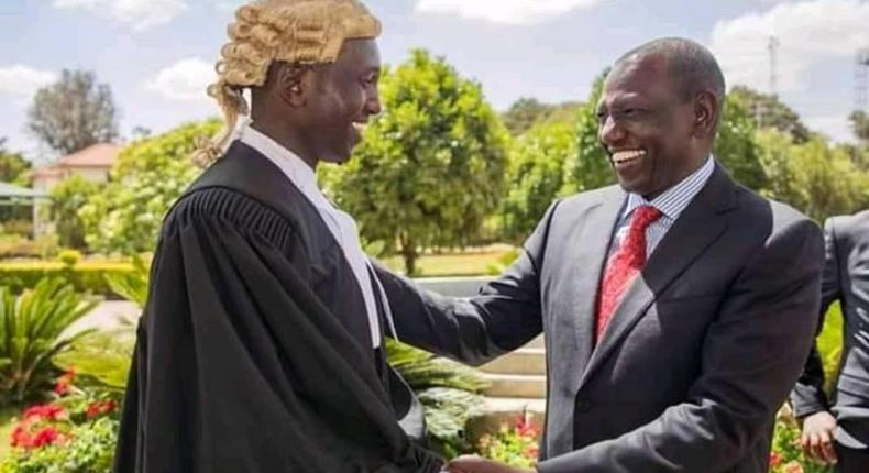 Ruto family all smiles as Maraga admits son to the roll of advocates