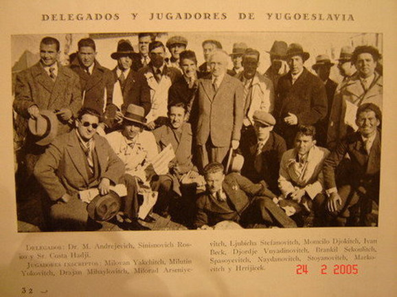 Dolazak naše delegacije u Montevideo