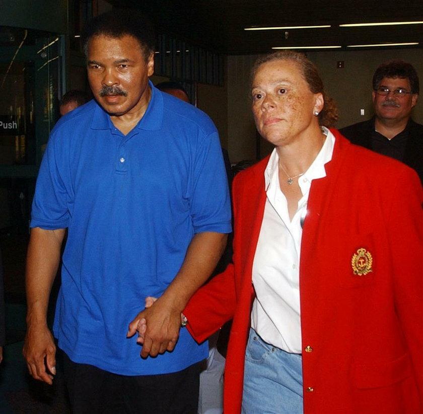 Muhammad Ali i jego żona Lonnie