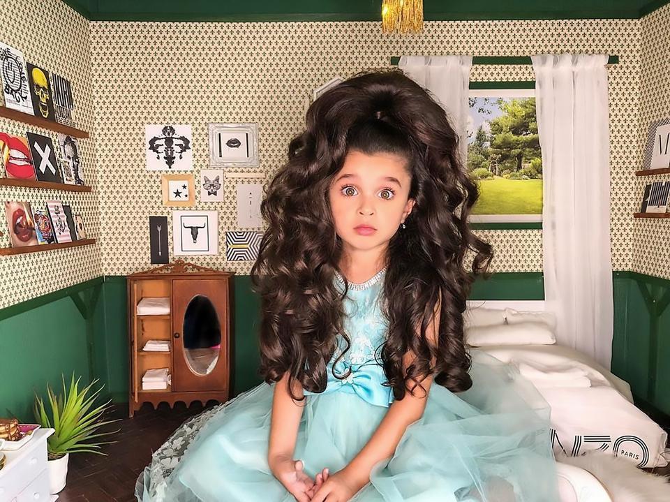 Ta Dziewczynka Ma Najpiękniejsze Włosy świata Dziecko