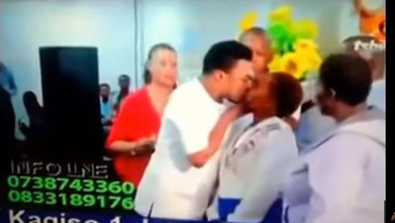 Ghanaian pastor, Nana Poku kisses women orgasmically and fondles their breasts for 'healing'