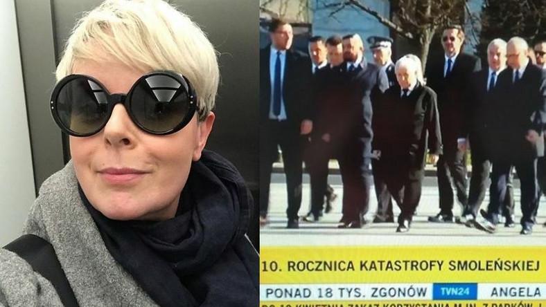 Karolina Korwin Piotrowska, obchody rocznicy katastrofy smoleńskiej
