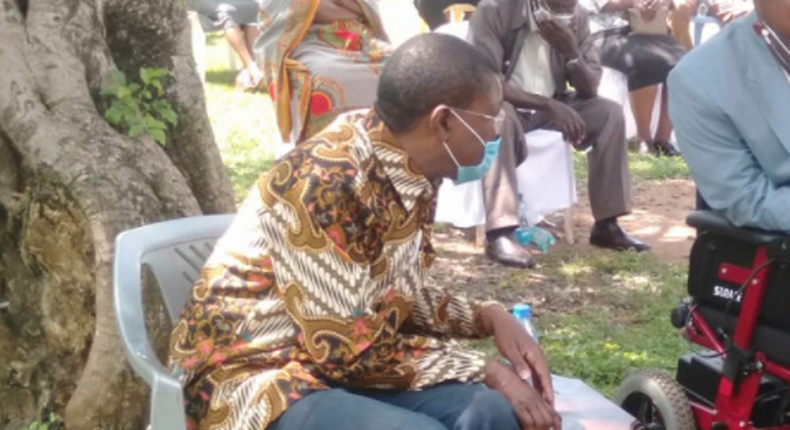 Bungoma Senator Moses Wetangula during a recent burial ceremony for his brother