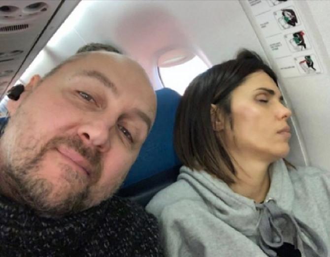 Dino Rađa sa suprugom Viktorijom