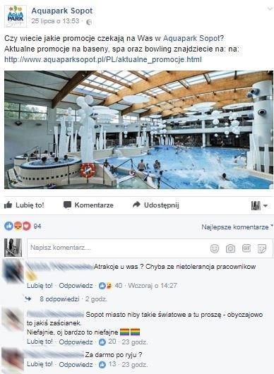 Ludzie sprzeciwili się nietolerancji wsopockim Aquaparku