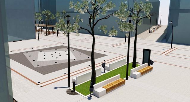 Skica pešačke zone u Aleksincu