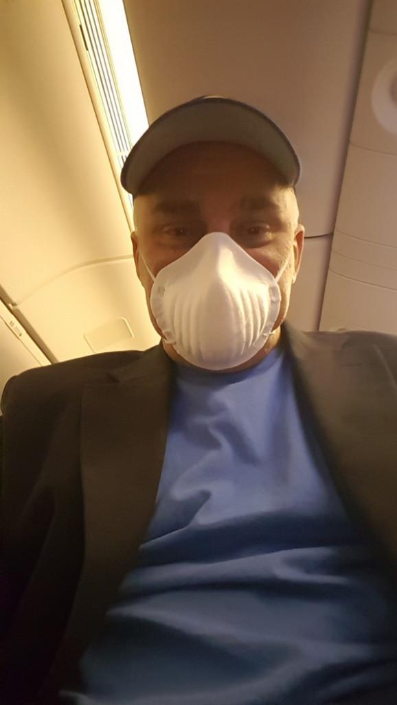 Zoran Ristanović na aerodromu u Budimpešti
