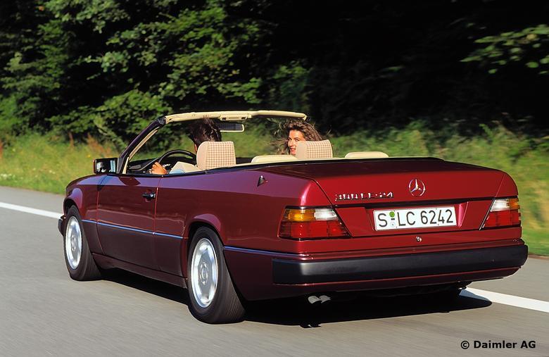 mercedes e w124 cabrio atrakcyjny 25 latek auto wiat. Black Bedroom Furniture Sets. Home Design Ideas