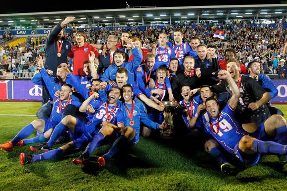 Ekipa Jagodine koja je u maju 2013. osvojila Kup Srbije u fudbalu