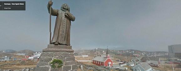 Statua misionara Hansa Egedea iz 10. veka