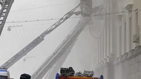 Pożar w gmachu ministerstwa obrony w centrum Moskwy