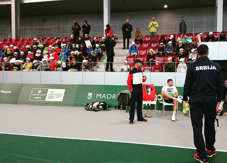 Deca teniseri na treningu Krajinovica i Troickog