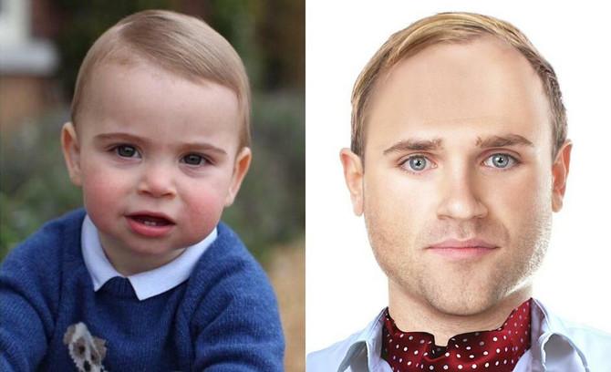 Princ Luj kao dečak i kao mladić