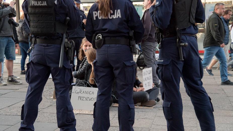 Protest Solidarni_e z Afgańczykami w Gdańsku