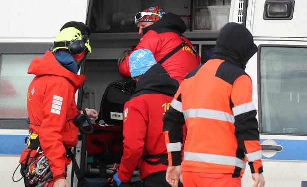 Służby na miejscu wypadku
