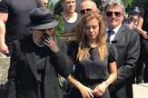 Kija Kockar na sahrani svog oca