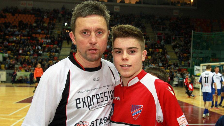 Jerzy Brzęczek z synem Robertem (zdjęcie z 2013 roku)