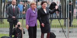 Kopacz pogubiła sie na lotnisku! Ratowała ją Merkel