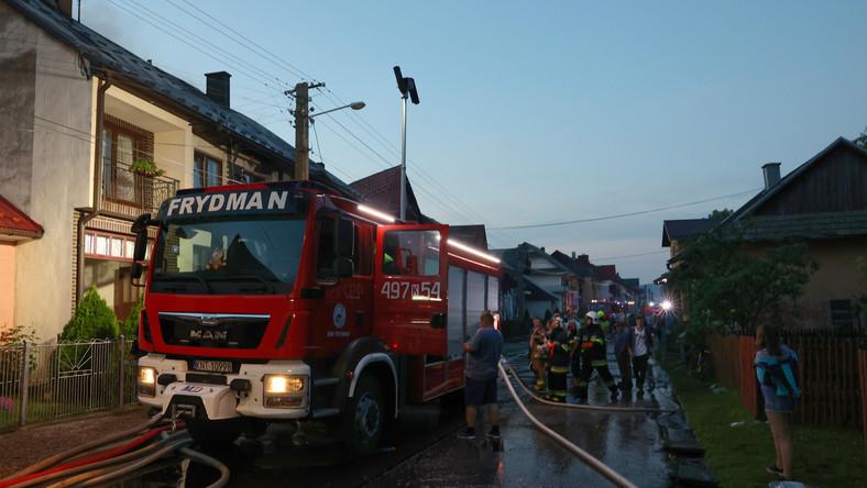 Miejsce pożaru we wsi Nowa Biała