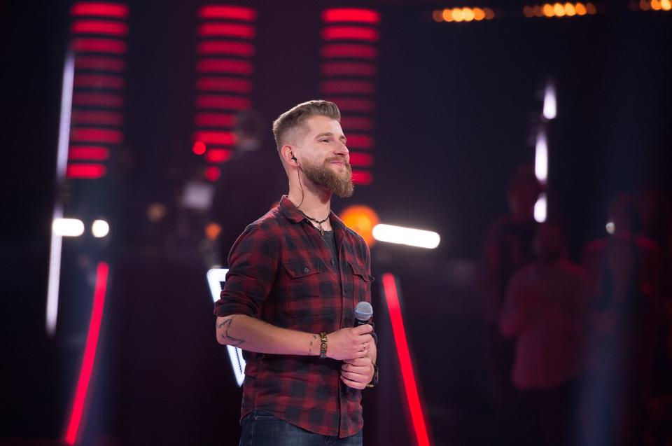 "Adam Kalinowski w ""The Voice of Poland 11"""