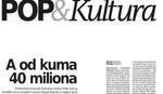 """Danas uz """"Blic"""" nova """"POP & Kultura"""" KAKO JE DOBIO NOVAC LAZAR RISTOVSKI"""