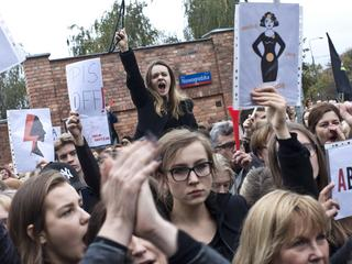 Poland Abortion Demonstration