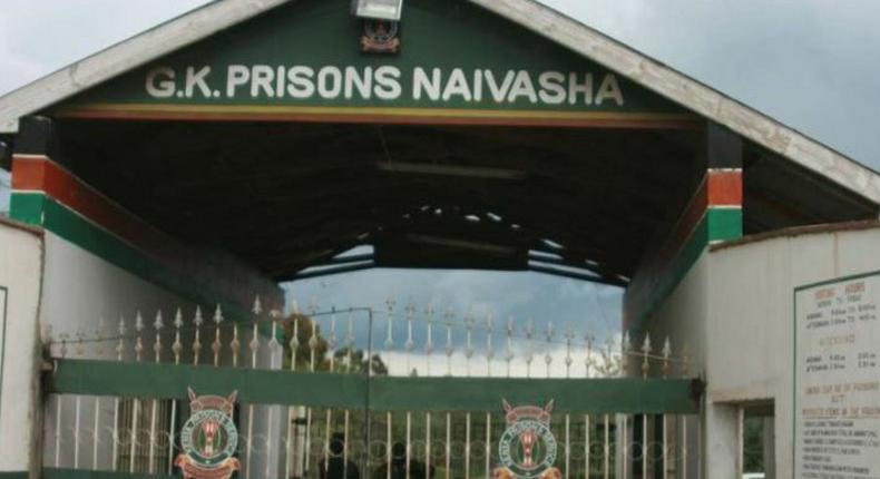 File image of the entrance to Naivasha GK Prison
