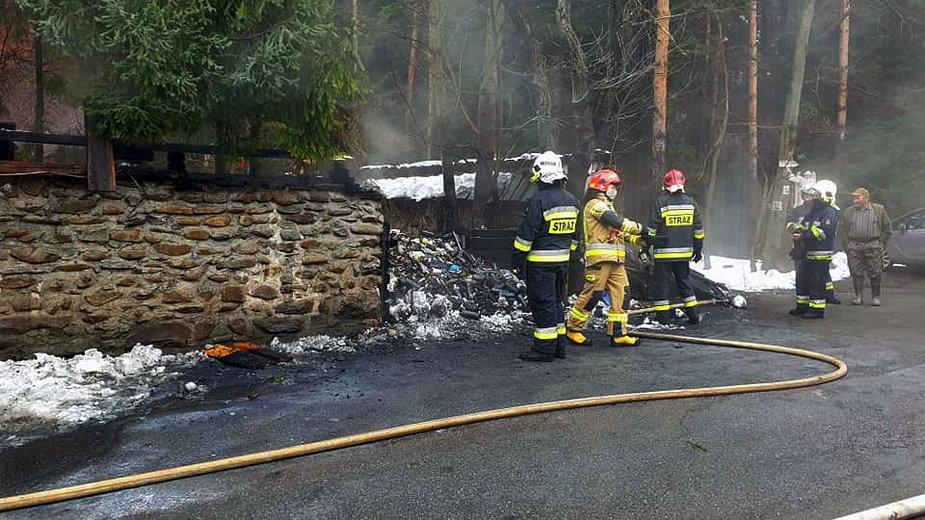 Pożar w Pustelni ks. Natanka