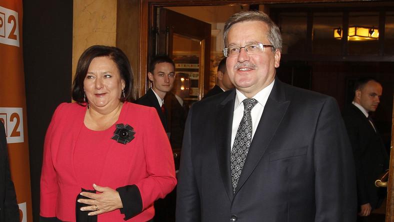 Prezydent Bronisław Komorowski z małżonką Anną