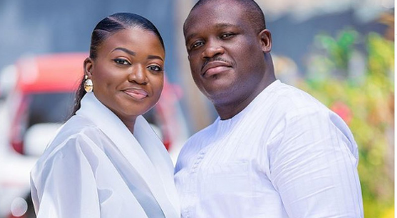 Couple goals: Sam George flaunts his wife in a beautiful photo