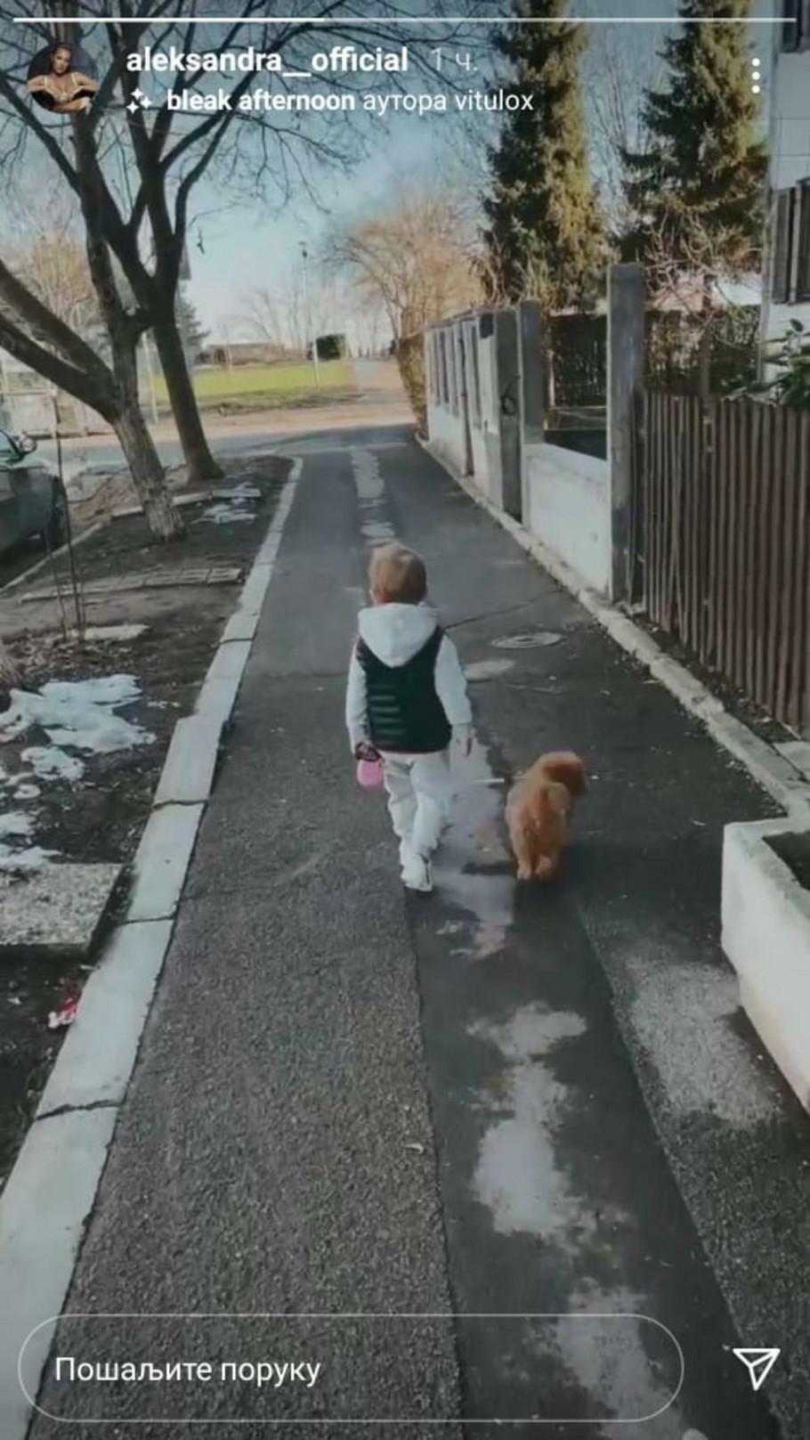 Aleksandra uživa sa sinom