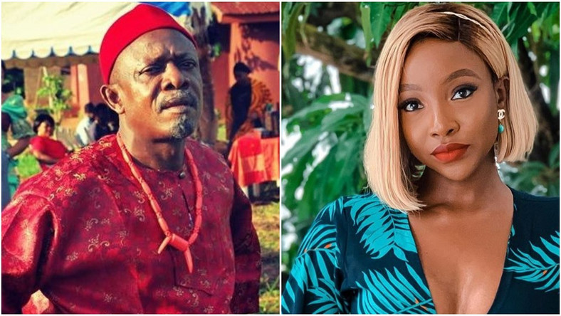 Nkem Owoh and Ini Dima-Okojie feature as dad and daughter in new film, 'Kpali' [Instagram/nkemowohosuofia/ini dima-okojie]