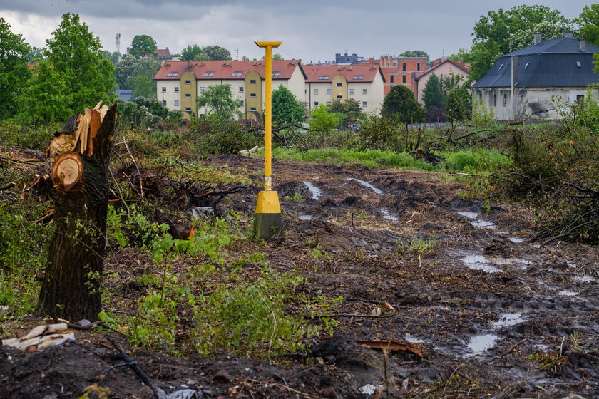 Przy ul. Zbożowej trwa wytyczanie terenu pod budowę