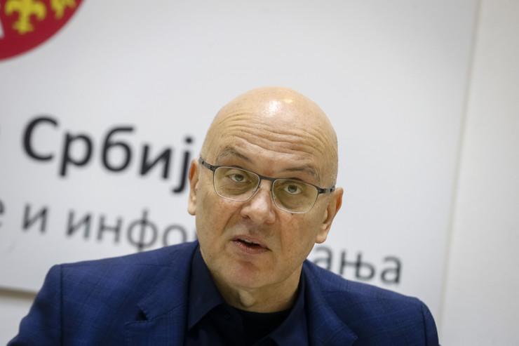 Ministar kulture i informisanja Vladan Vukosavljević na današnjoj konferenciji povodom Kustendorfa
