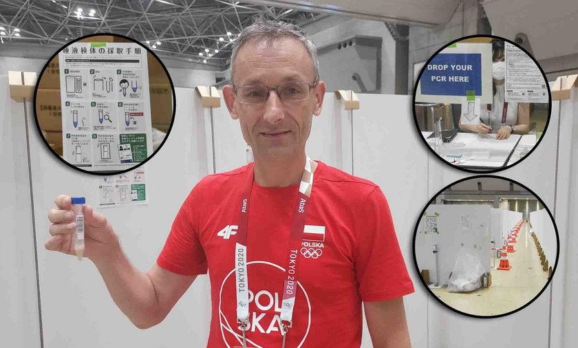 Na igrzyskach w Tokio testy na COVID-19 robi się poprzez plucie do probówki.