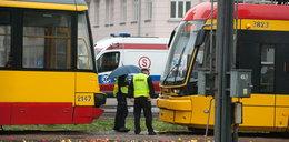 Zderzenie tramwajów na pl. Unii Lubelskiej. Są ranni