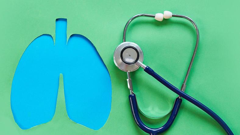 Płuca i stetoskop