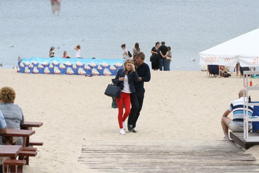 Kasia Tusk na plaży