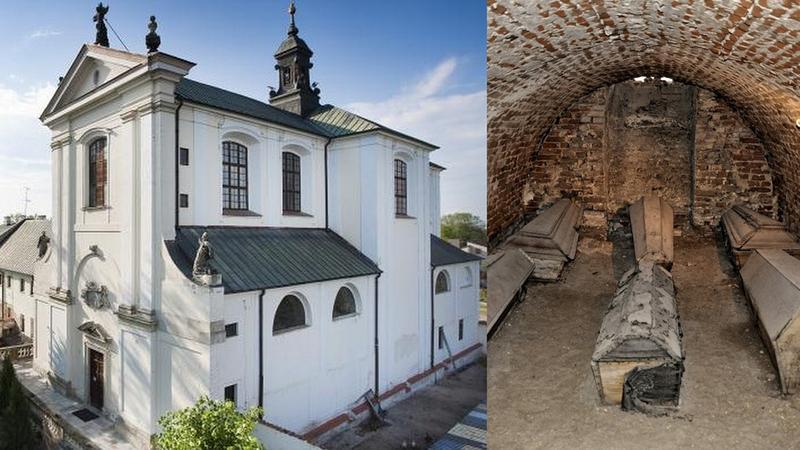 Krypty w podziemiach kościoła w Węgrowie