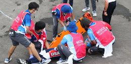 Koszmarny wypadek podczas igrzysk. Przed zawodnikiem długa rehabilitacja. WIDEO